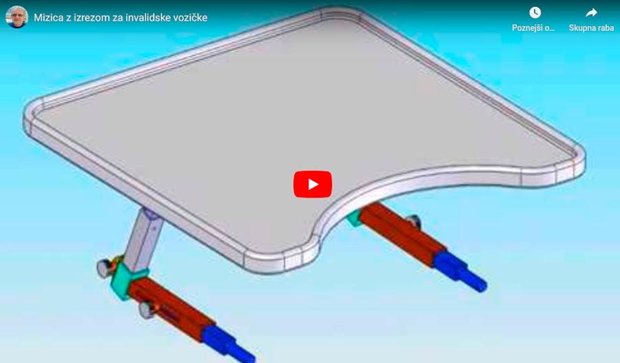 Večnamenska ergonomska mizica